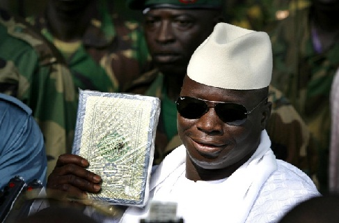 Yahya Abdul-Aziz Jemus Junkung Jammeh holding one of the largest obstacles in the path to global peace