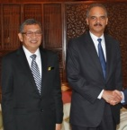 The two worst attorney generals on the planet - Abdul Gani bin Patail and Eric Holder. Just goes to show whose side Holder's on.