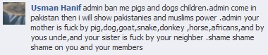 Why are Africans lumped in with livestock? Is this a racist Muslim?