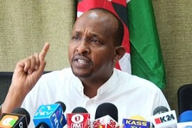 Aden Duale demonstrating the trademark Muslim finger-point