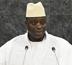 Yahya Abdul-Aziz Jemus Junkung Jammeh needs to hang out with some gay dudes - he has no sense of style!