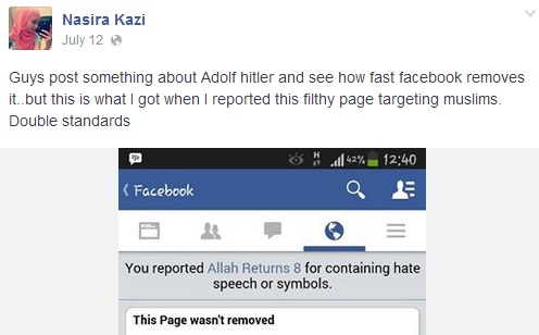 Nasira Kazi tried to get her report jihad on... and failed.