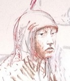 A sketch of Hinda Osman Dhirane in court