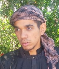 Mohammed Junaid Thorne wearing a picnic blanket