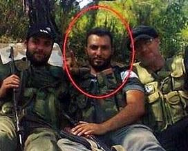"Mustapha al-Majzoub with his fellow ""humanitarian workers"" and Magic Muslim Peace Sprayers™"