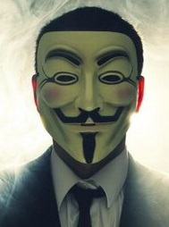 Shahul Ahmed's Twitter avatar, an icon of the group Anonymous